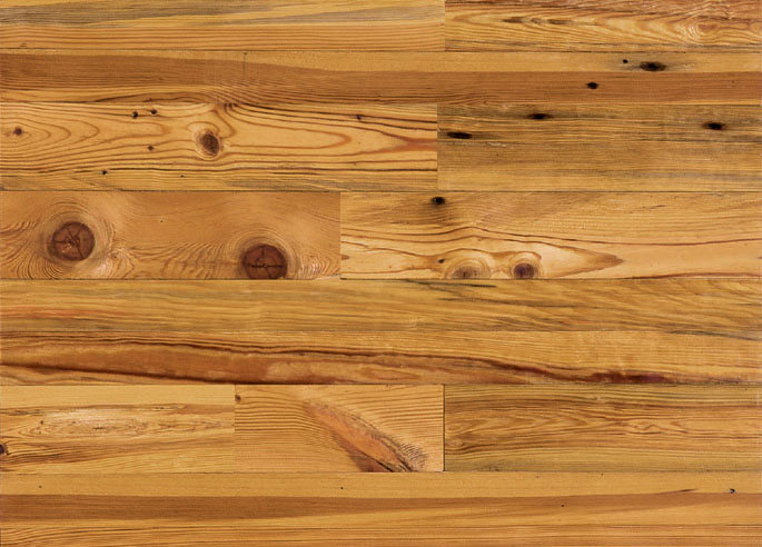 Antique Reclaimed Heart Pine Solid Wood Flooring, Cottage Grade