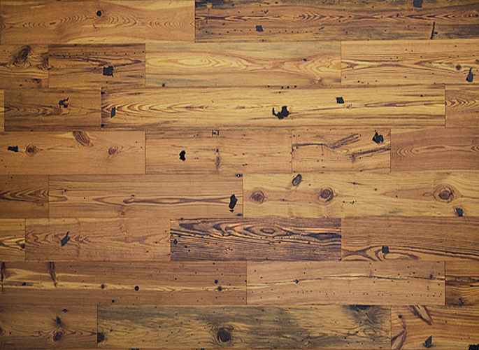 Antique reclaimed heart pine engineered prefinished wood for Rustic hardwood flooring