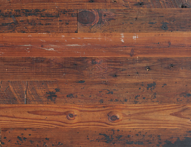Antique Reclaimed Heart Pine Natural Top Solid Wood Flooring