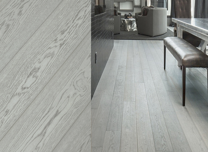European White Oak Wide Plank Engineered Prefinished Wood Flooring Fossil  Oil Finish - White Oak Wide Plank Engineered Prefinished Wood Flooring Fossil