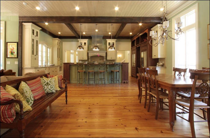 The Custom Kitchen Beams Are Constructed Of 1/2u0027 Exteriors From Reclaimed  Beams,