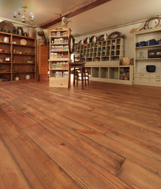 Heart Pine Wide Plank Flooring - Heart Pine Wide Plank Wood Flooring At The Living History Park