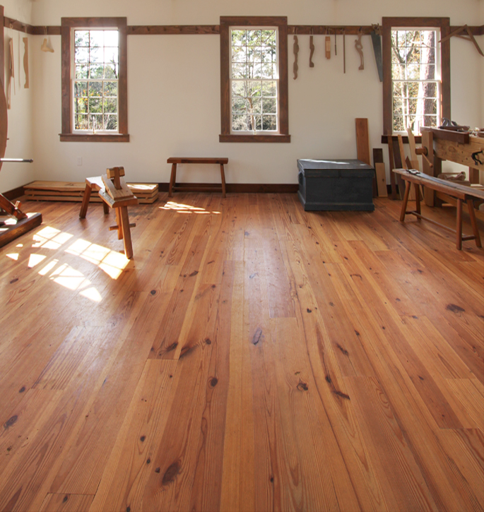 Heart Pine Wide Plank Wood Flooring At The Living History